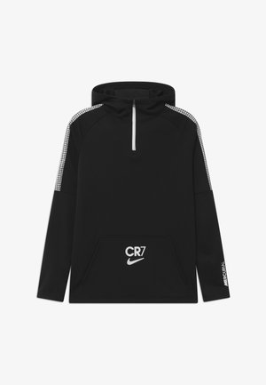 CR7 DRY DRIL HOODIE - Funktionsshirt - black/white/iridescent