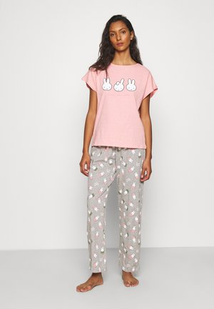SHORT SLEEVES LONG PANT TROPICAL - Pyjamas - pink