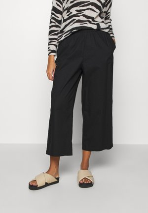 VILJA TROUSERS - Pantalones - black dark