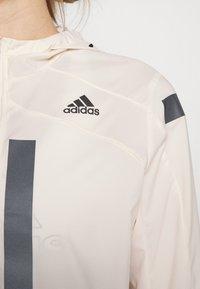 adidas Performance - MARATHON RUNNING ADIZERO PRIMEBLUE JACKET - Sports jacket - white/black - 5