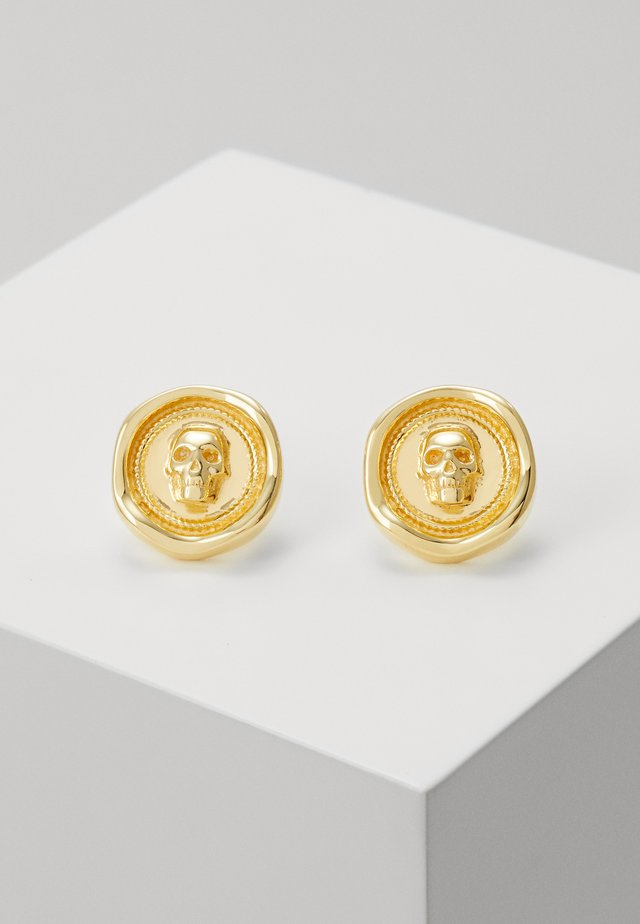 ATTICUS SKULL SEAL STUD EARRING - Kolczyki - gold-coloured
