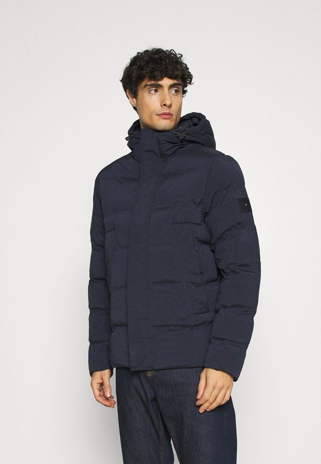 HOODED STRETCH - Winterjas - blue