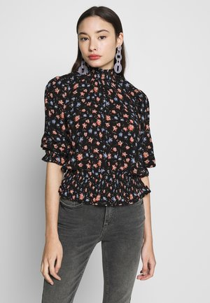DITSY PRINTED SHIRRED HIGH NECK  - Blouse - mutli