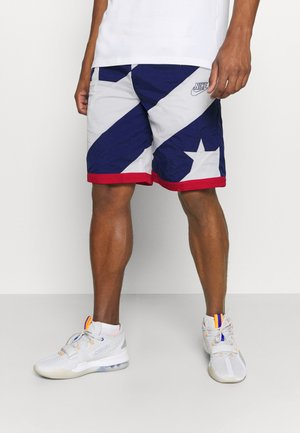 THROWBACK - Träningsshorts - blue void/white/university red