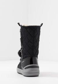 Geox - SLEIGH GIRL ABX - Šněrovací vysoké boty - black - 4