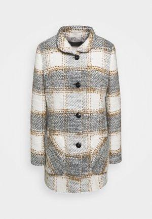 Zimní kabát - creme/silver/hazelnut