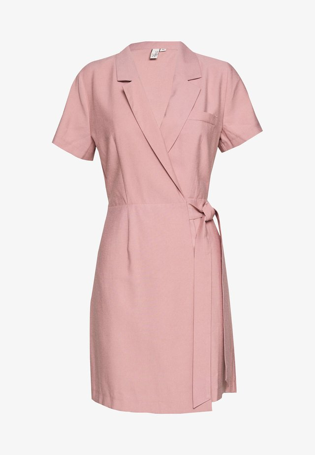 WRAP SUIT SUMMER DRESS - Day dress - light pink