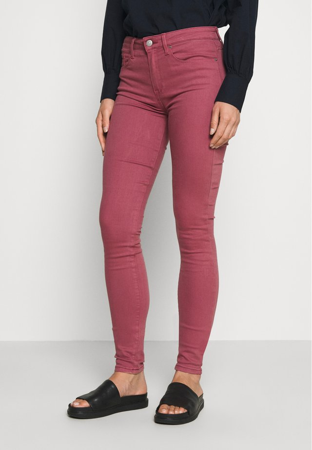 COMO SKINNY - Trousers - misty red
