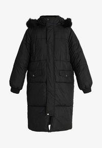 Urban Classics Curvy - LADIES OVERSIZE COAT - Winter coat - black/black - 5