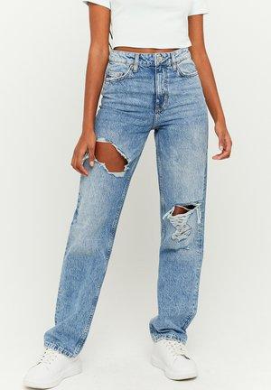 TALLY WEIJL HIGH WAIST - Straight leg jeans - blue