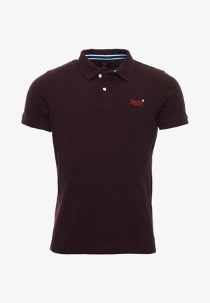 Poloshirt - deepest burgundy grit