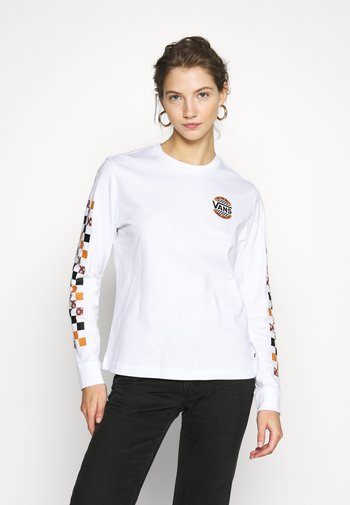 CHARRA CHECK  - Long sleeved top - white