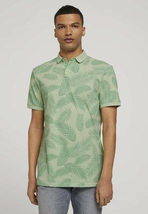 Polo shirt - mint palm leaves print