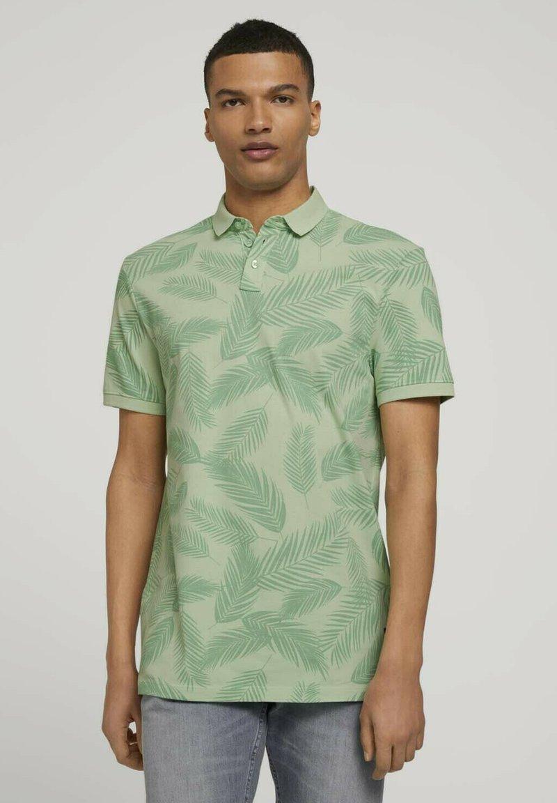 TOM TAILOR DENIM - Polo shirt - mint palm leaves print