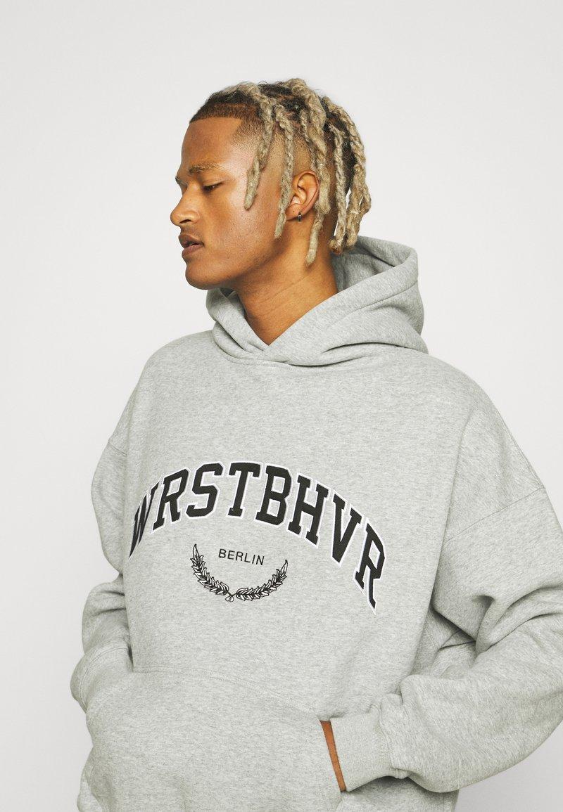 WRSTBHVR - OFFBEAT HOODIE UNISEX - Sweat à capuche - grey melange