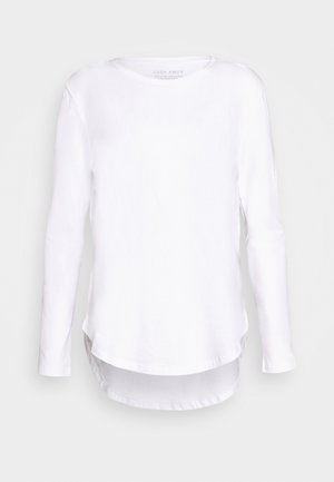 LONG SLEEVE SADDLE HEM - Long sleeved top - white
