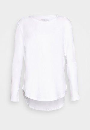 LONG SLEEVE SADDLE HEM - Pitkähihainen paita - white