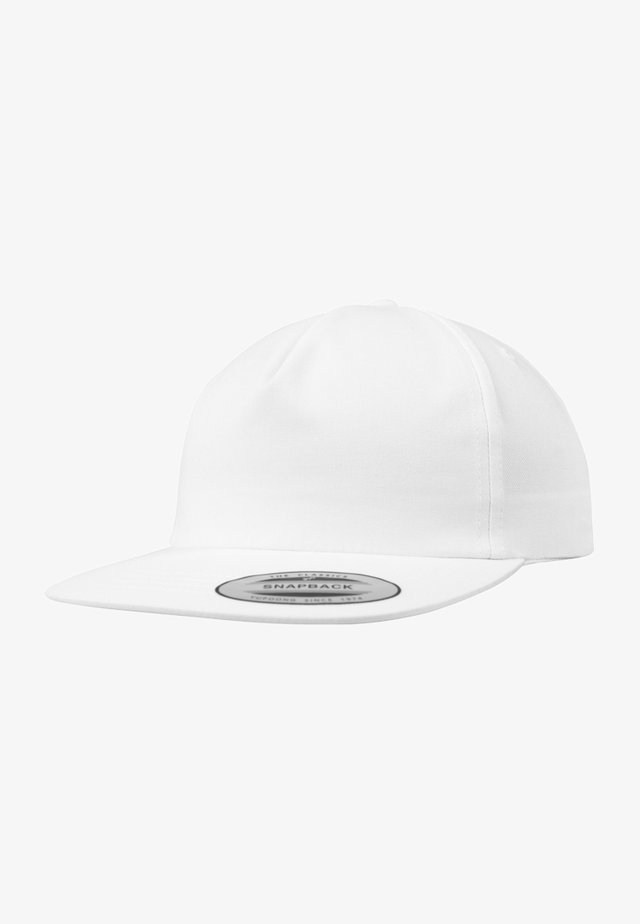 UNSTRUCTURED 5-PANEL SNAPBACK - Cappellino - white