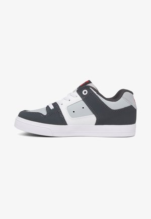PURE ELASTIC - Skate shoes - grey/grey/red