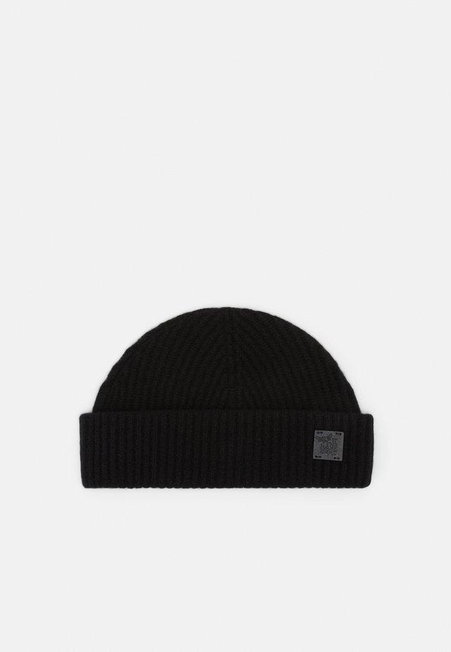 CASHMERE SHORT BEANIE - Mütze - black
