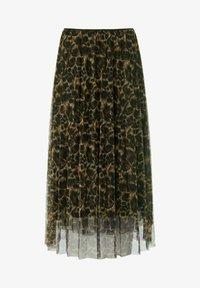 MARGITTES - A-line skirt - schwarz/multicolor - 4