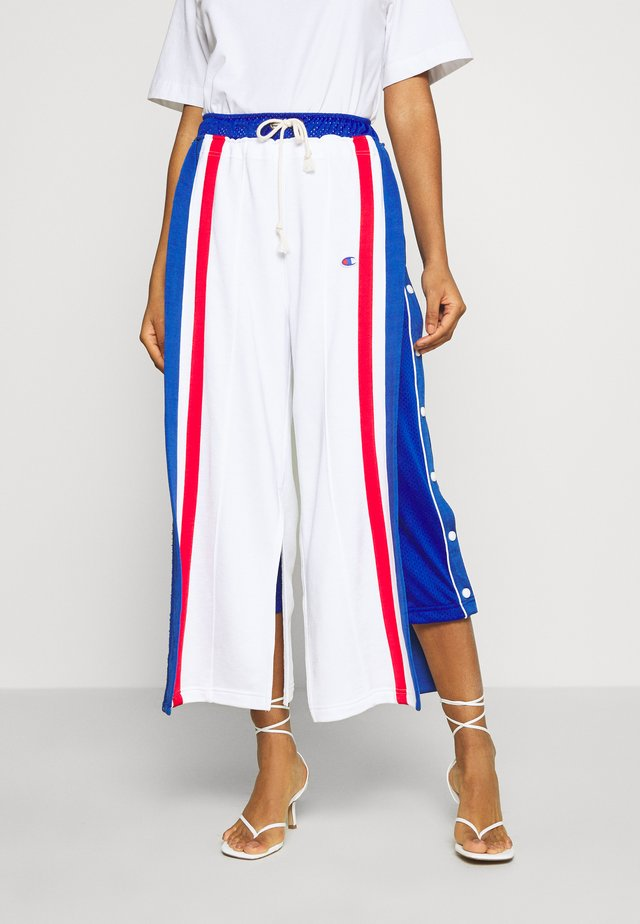 WIDE LEG PANTS - Tracksuit bottoms - white