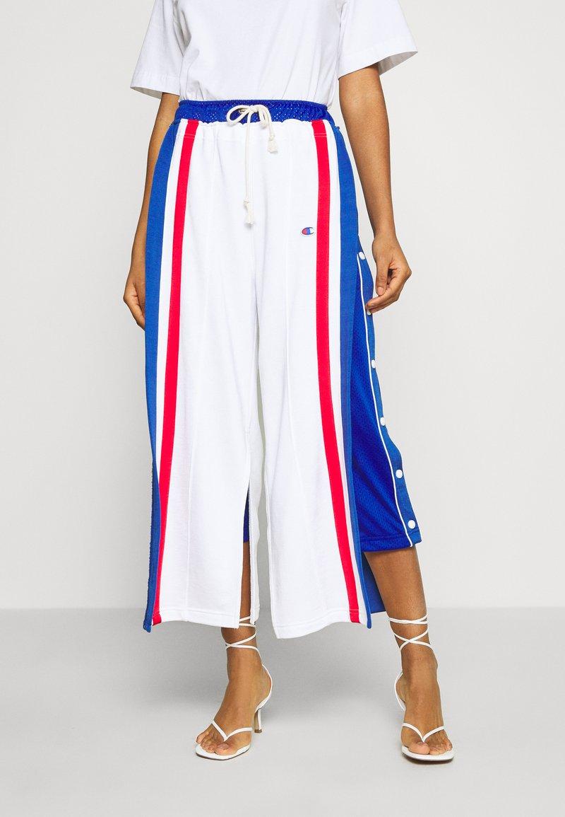Champion Reverse Weave - WIDE LEG PANTS - Tracksuit bottoms - white