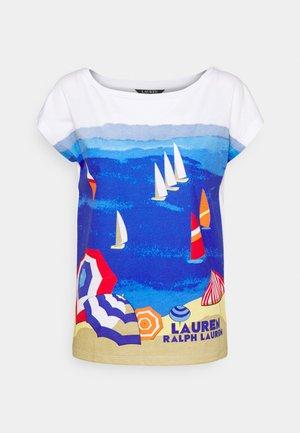 GRIETA SHORT SLEEVE - Print T-shirt - white