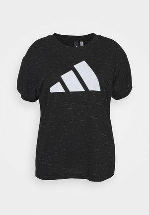 WIN TEE - T-shirt con stampa - black melange