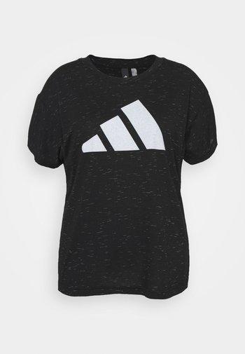 WIN TEE - Print T-shirt - black melange