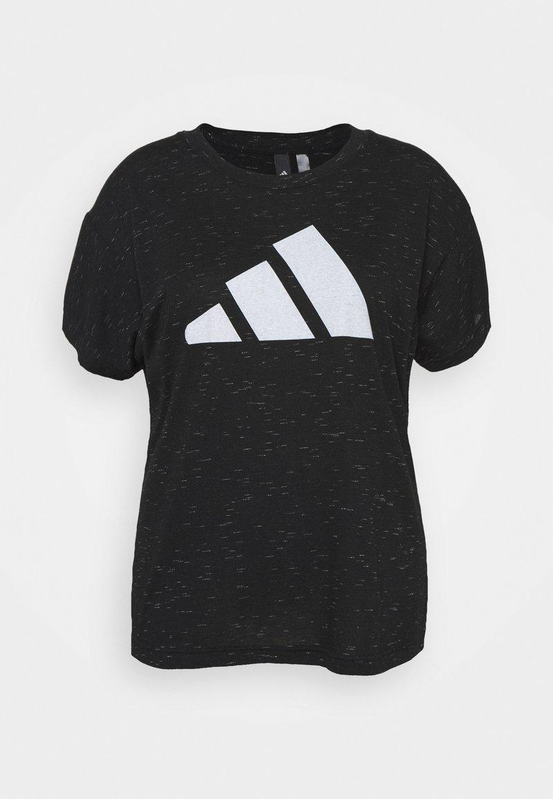 adidas Performance - WIN TEE - Print T-shirt - black melange