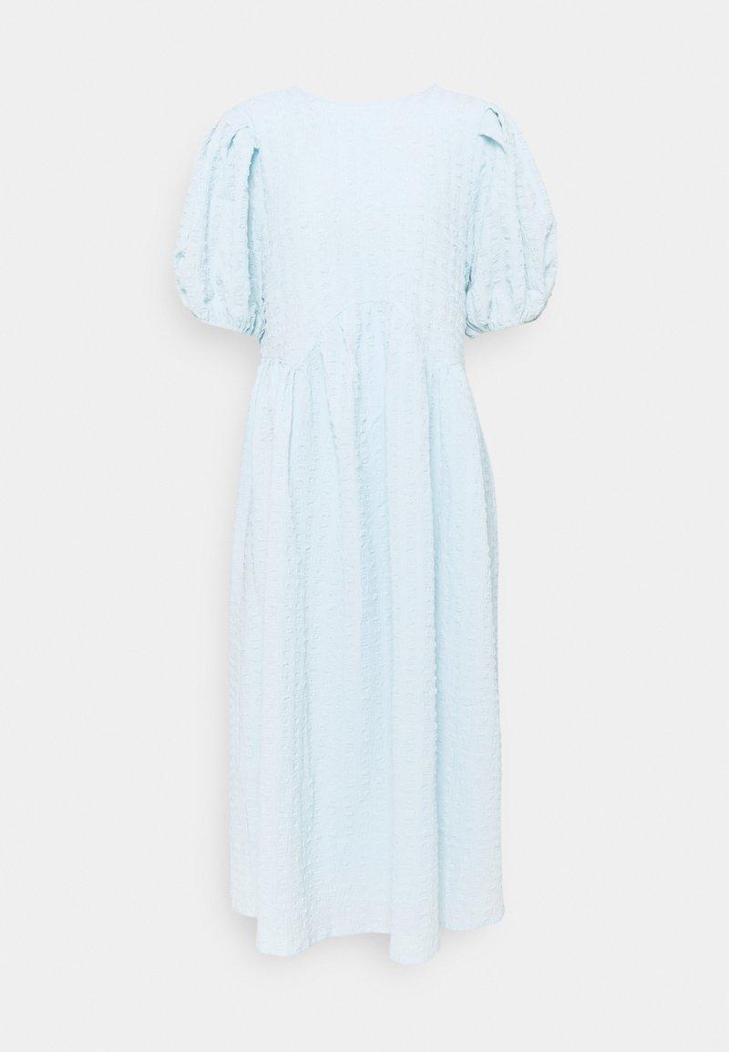 Selected Femme - SLFROSE MIDI DRESS  - Day dress - cashmere blue