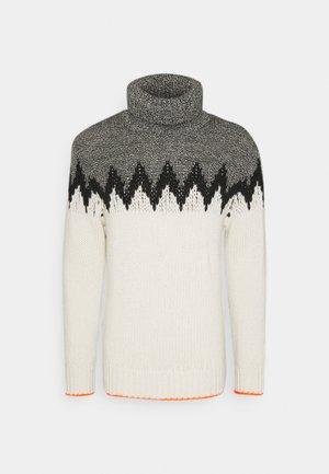 RECYCLED ICELAND KELDEN - Jumper - black/ecru