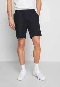 Abercrombie & Fitch - DRAPEY PULL ON - Shorts - navy/chalk - 0