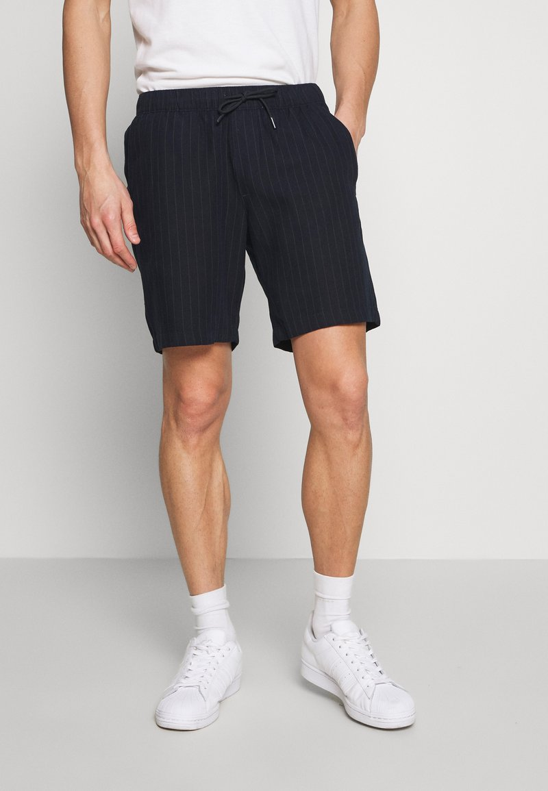 Abercrombie & Fitch - DRAPEY PULL ON - Shorts - navy/chalk