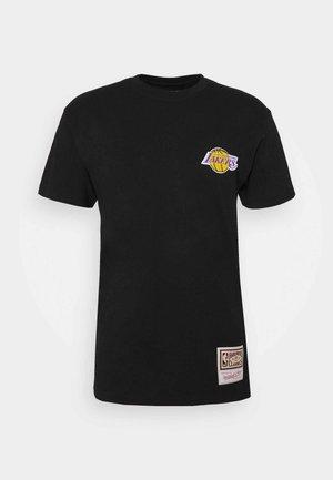 NBA LA LAKERS EMBROIDERED LOGO TEE - Club wear - black