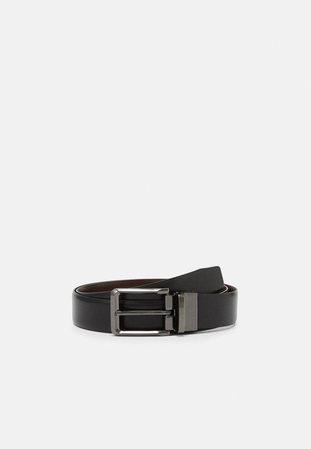 LEATHER - Belt - black/brown