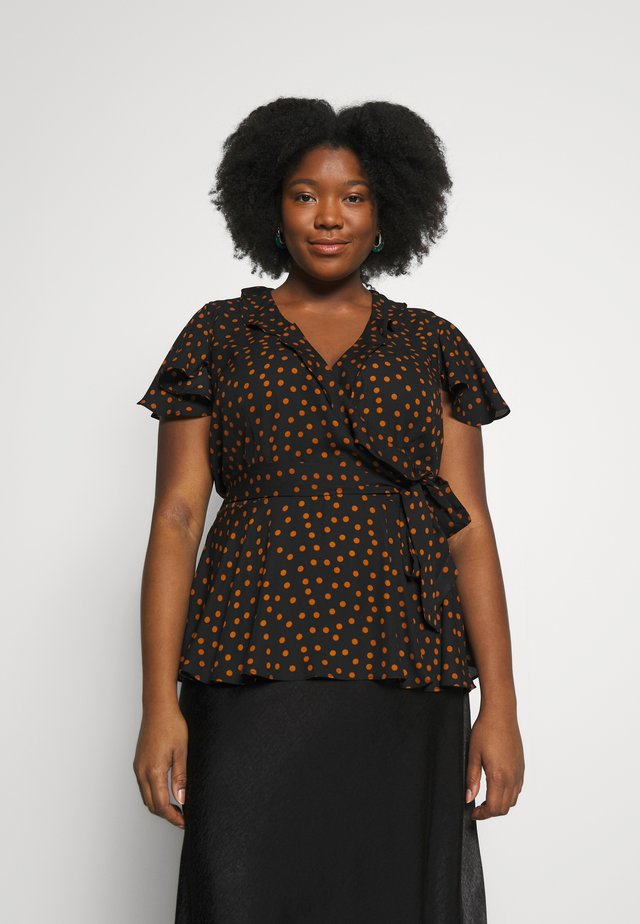 DOTTY WRAP - Blouse - amber