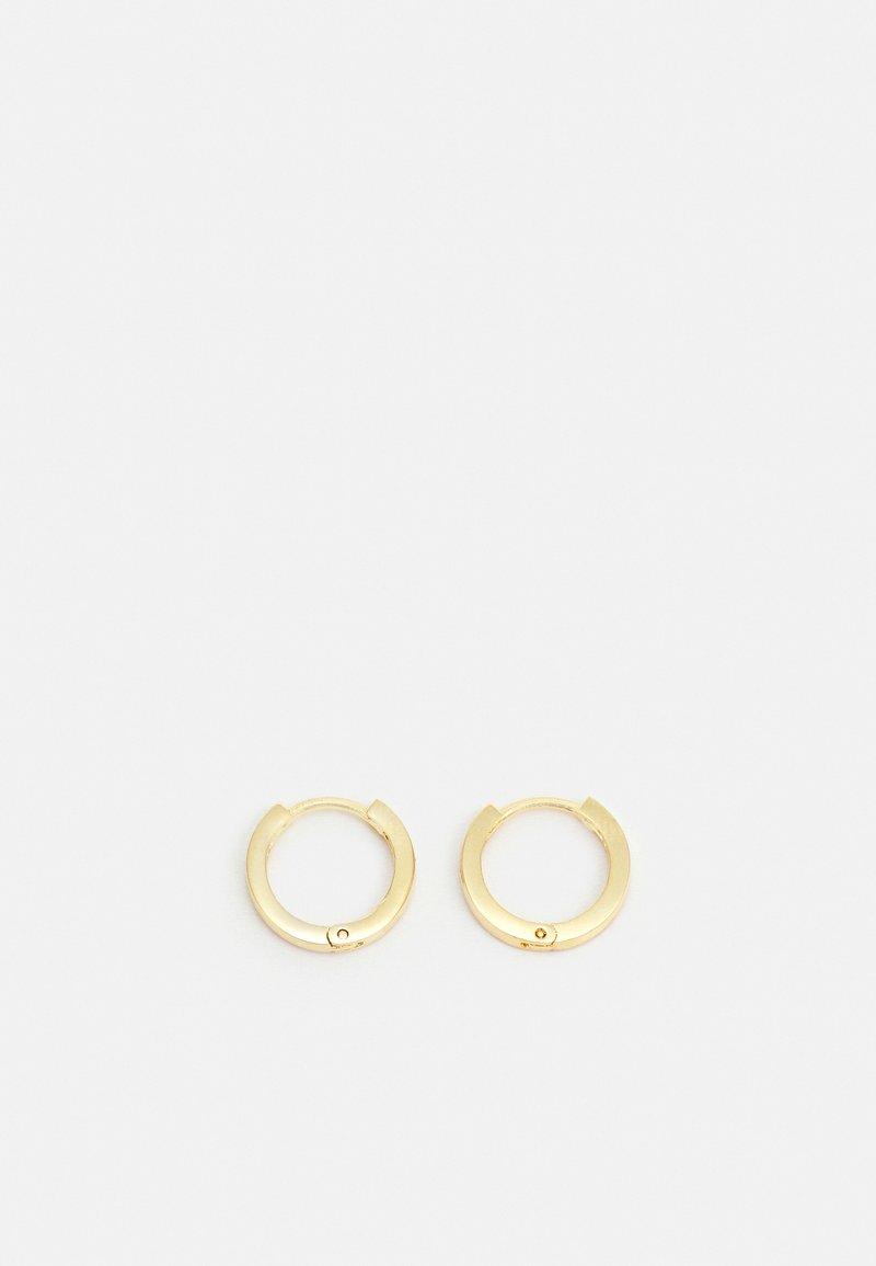 Orelia - CLEAN HUGGIE HOOP - Earrings - gold-coloured