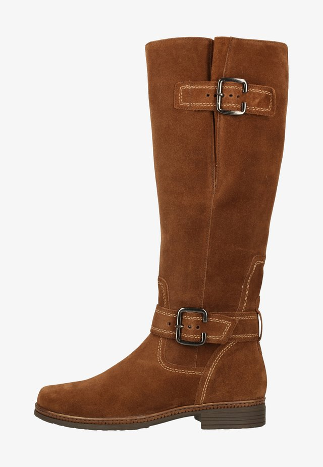 Cowboy/Biker boots - whisky