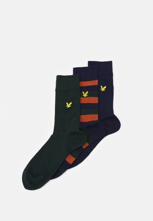 CALUM 3 PACK - Chaussettes - peacoat/bombay brown/pine grove
