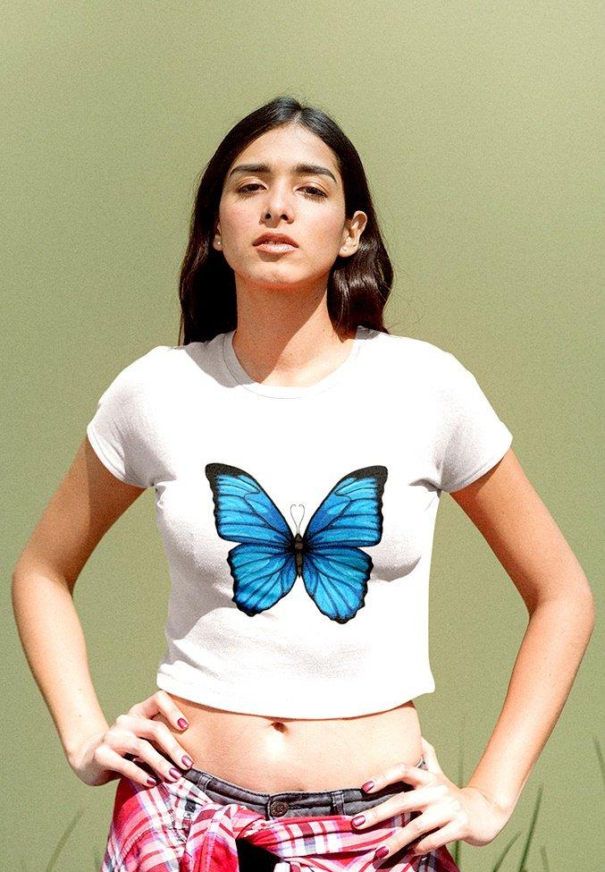 Damen BLUE BUTTERFLY - T-Shirt print