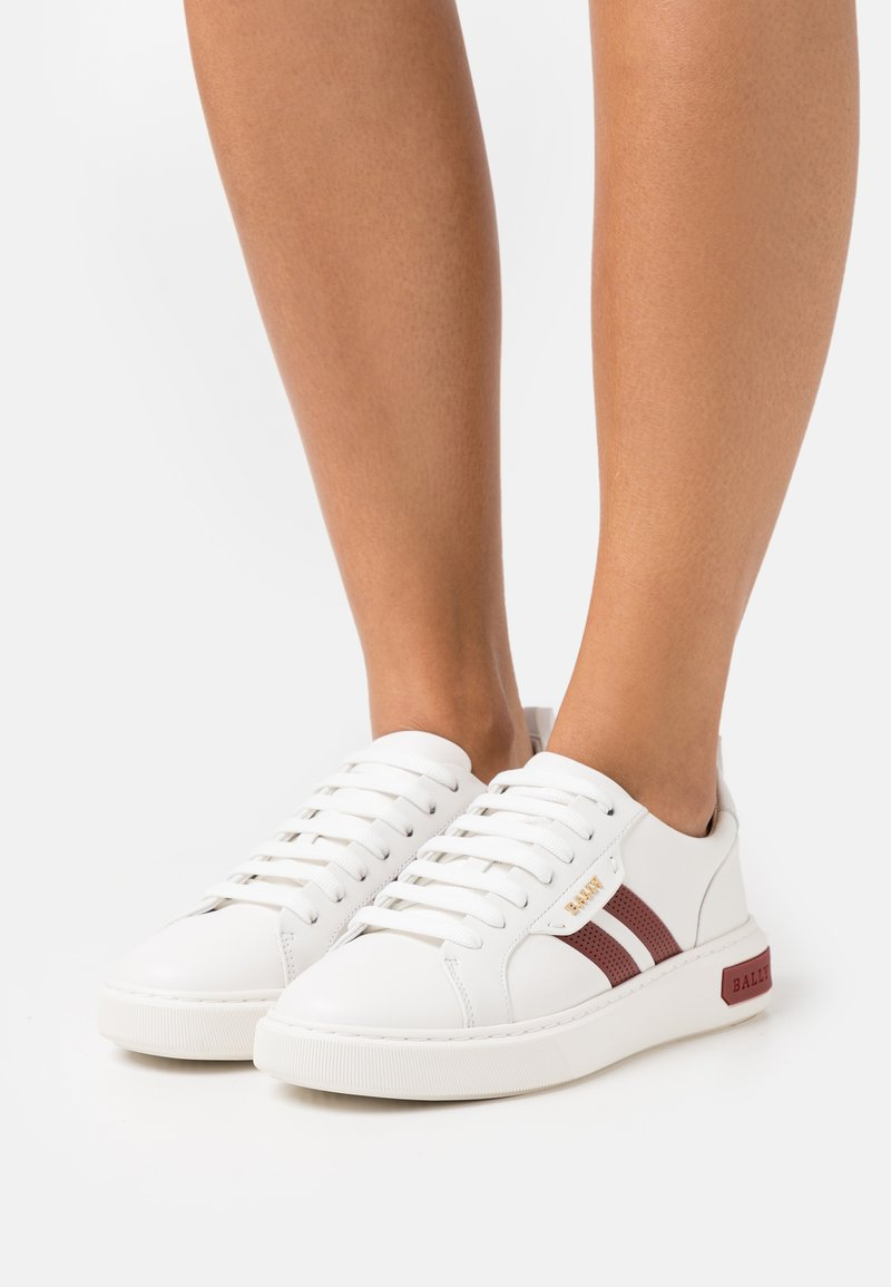 Bally - MAXIM - Trainers - white/red