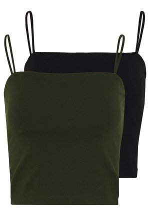 SCARLETT SINGLET 2 PACK - Top - black/dark olive