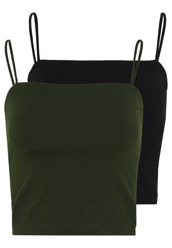 SCARLETT SINGLET 2 PACK - Top - black/dark olive