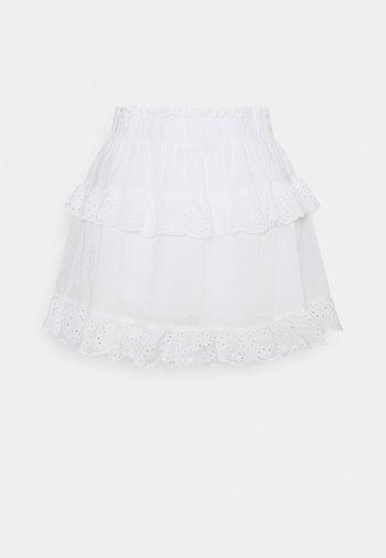 PCLOUDRES SKIRT - Mini skirt - cloud dancer