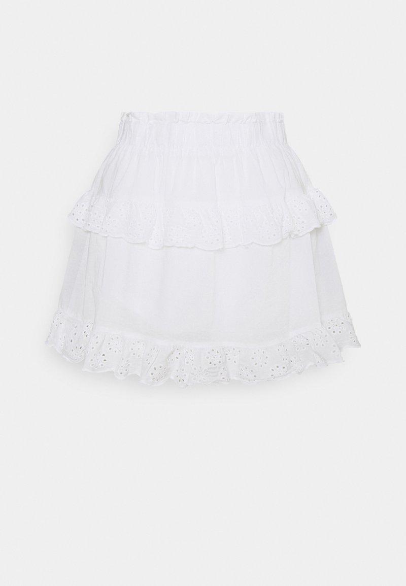 Pieces Petite - PCLOUDRES SKIRT - Mini skirt - cloud dancer