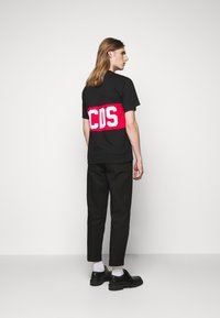 GCDS - BAND LOGO TEE - Print T-shirt - black - 2