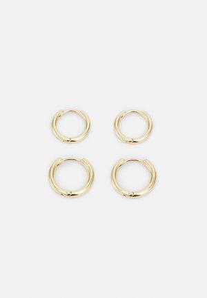 EARRINGS LEAF 2 PACK - Earrings - gold-coloured