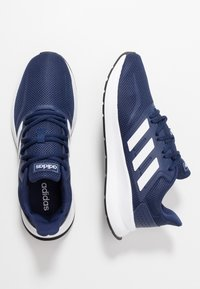 adidas Performance - RUNFALCON - Zapatillas de running neutras - dark blue/ftwr white/core black - 1